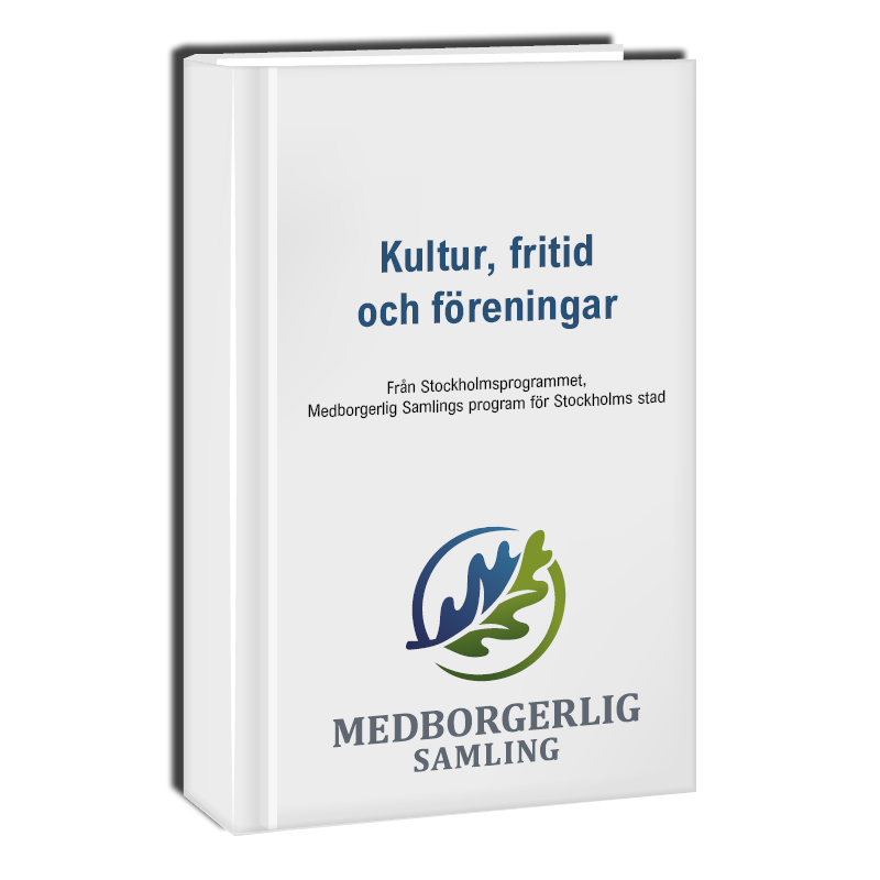 Politiskt program om kultur, fritid och föreningar i Stockholm.